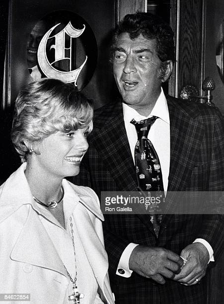 Singer Dean Martin and date Catherine Hawn attending PreParty for 46th Annual Academy Awards on April 1 1974 at Chasen's Restaurant in Beverly Hills...