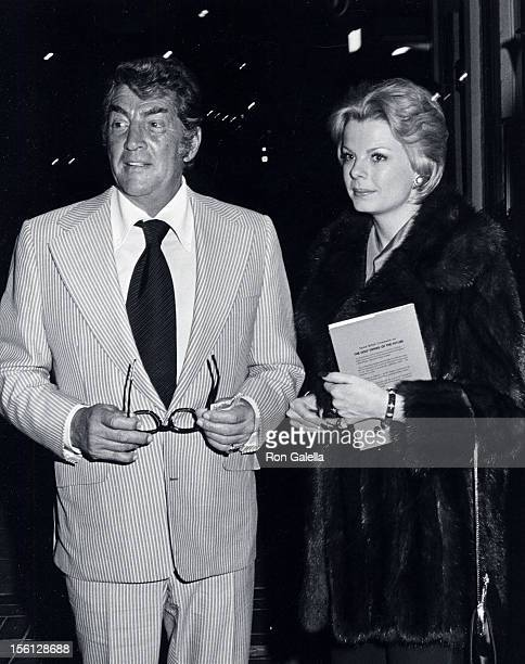 Singer Dean Martin and date Catherine Hawn being photographed on April 2 1973 at Chasen's Restaurant in Beverly Hills California