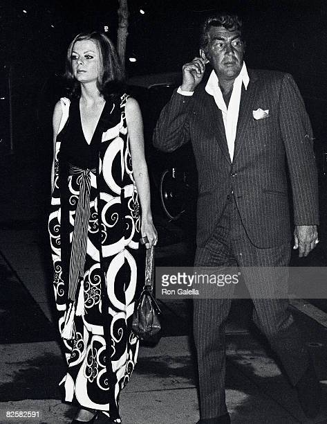 Singer Dean Martin and date Catherine Hawn being photographed on May 1 1970 at The Candy Store in Beverly Hills California