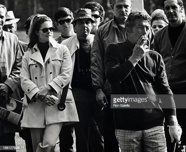 Singer Dean Martin and Gail Renshaw attending 'Bing Crosby Clambake Golf Tournament Charity Benefit' on January 22 1970 at the Pebble Beach Golf...