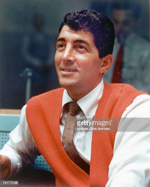 Singer Dean Martin takes a break during a recording session in Los Angeles California circa 1958