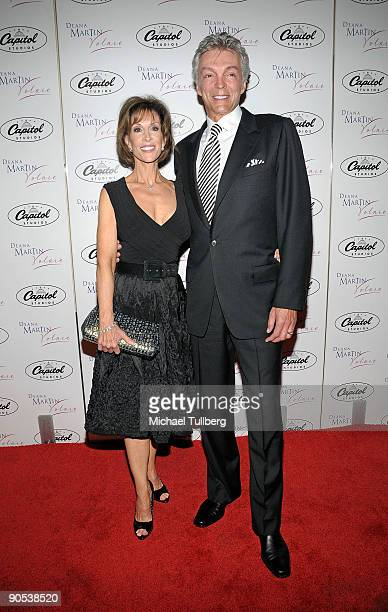 Singer Deana Martin arrives with husband John Griffeth arrive at the CD release party for Martin's new album Volare held at the Capitol Records...