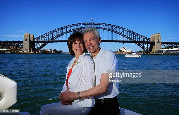 Singer Deana Martin daughter of legendary singer and actor Dean Martin poses with husband John Griffeth after renewing their wedding vows while on a...