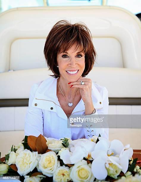 Singer Deana Martin daughter of legendary singer and actor Dean Martin poses after renewing their wedding vows with husband John Griffeth while on a...