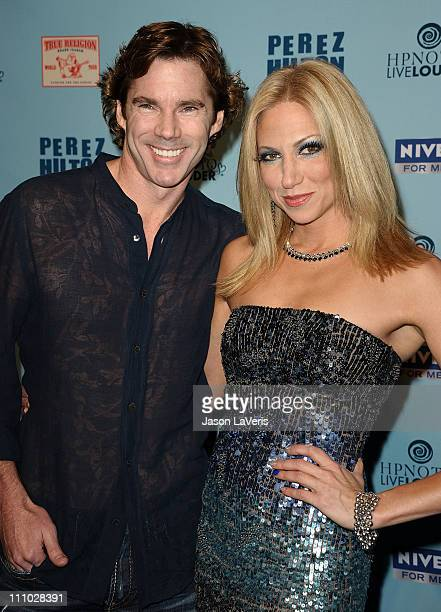 Singer Debbie Gibson and Dr Rutledge Taylor attend Perez Hilton's Blue Ball birthday celebration on March 26 2011 in Hollywood California