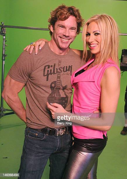 Singer Debbie Gibson and Dr Rutledge Taylor attend the Electric Youth Reloaded Video Shoot on June 14 2012 in Los Angeles California