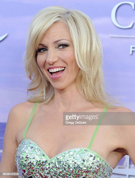 Singer Debbie Gibson arrives at the Hallmark Channel and Hallmark Movies and Mysteries Summer 2016 TCA Press Tour Event on July 27 2016 in Beverly...