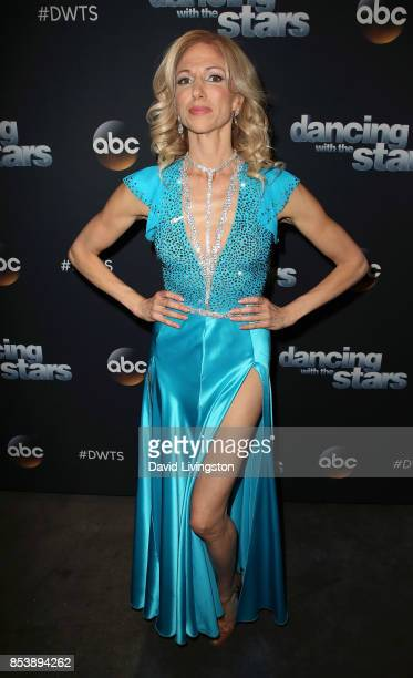 Singer Debbie Gibson attends 'Dancing with the Stars' season 25 at CBS Televison City on September 25 2017 in Los Angeles California