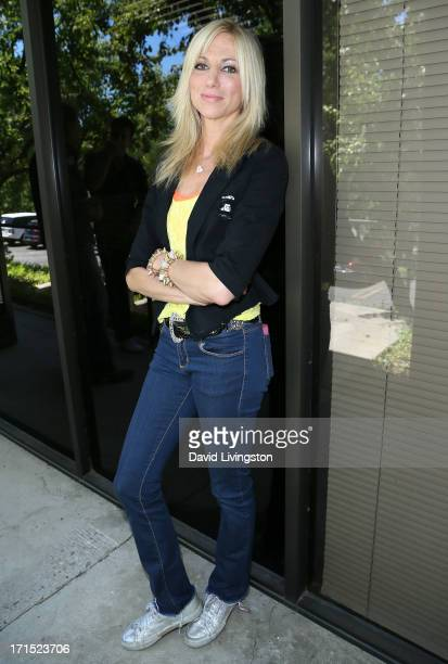 Singer Debbie Gibson celebrates the 25th anniversary of Foolish Beat at Antonio Sabato Jr's acting camp on June 25 2013 in Westlake Village California