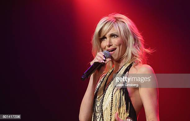 Singer Debbie Gibson performs during the Mondays Dark 2nd anniversary at The Joint inside the Hard Rock Hotel Casino on December 14 2015 in Las Vegas...