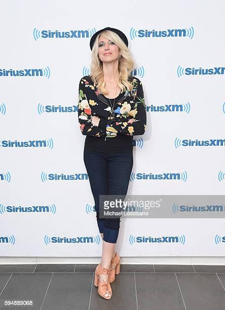 Singer Debbie Gibson visits SiriusXM Studios on August 24 2016 in New York City