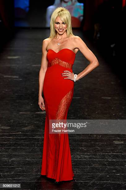 Singer Debbie Gibson walks the runway at The American Heart Association's Go Red For Women Red Dress Collection 2016 Presented By Macy's at The Arc...
