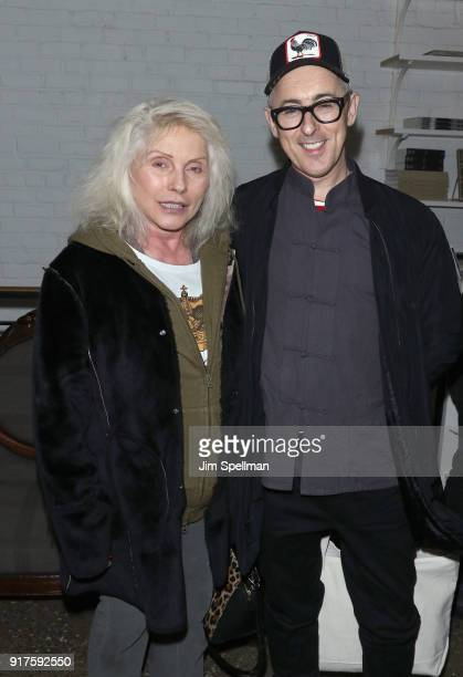 Singer Debbie Harry and actor Alan Cumming attend the screening after party for 'The Party' hosted by Roadside Attractions and Great Point Media with...