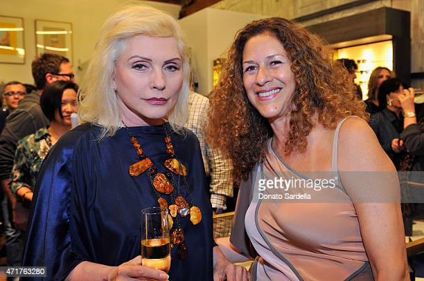 Singer Debbie Harry and Francisca Moroder attend the Photography Exhibition at Paul Smith LA on April 30 2015 in Los Angeles California