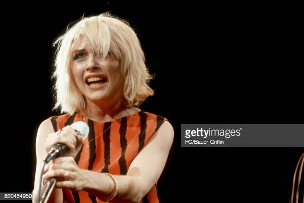 MANCHESTER UK DECEMBER 28 Singer Debbie Harry and her band Blondie perform live at the Free Trade Hall on December 28 1979 in Manchester England...