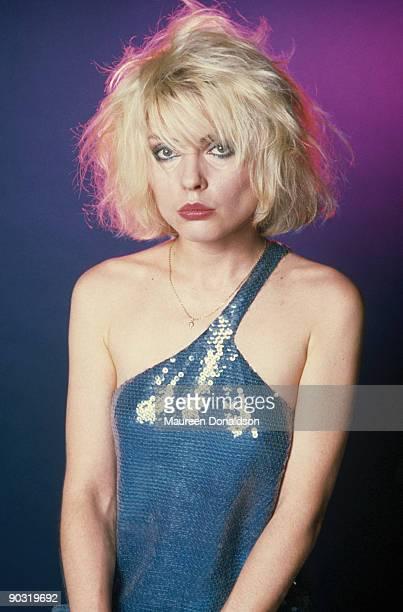 Singer Debbie Harry of American punk rock band Blondie, 1979.