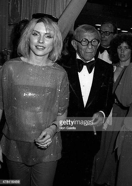 Singer Debbie Harry of Blondie and actor George Burns attend the 22nd Annual Grammy Awards on February 27 1980 at the Shrine Auditorium in Los...