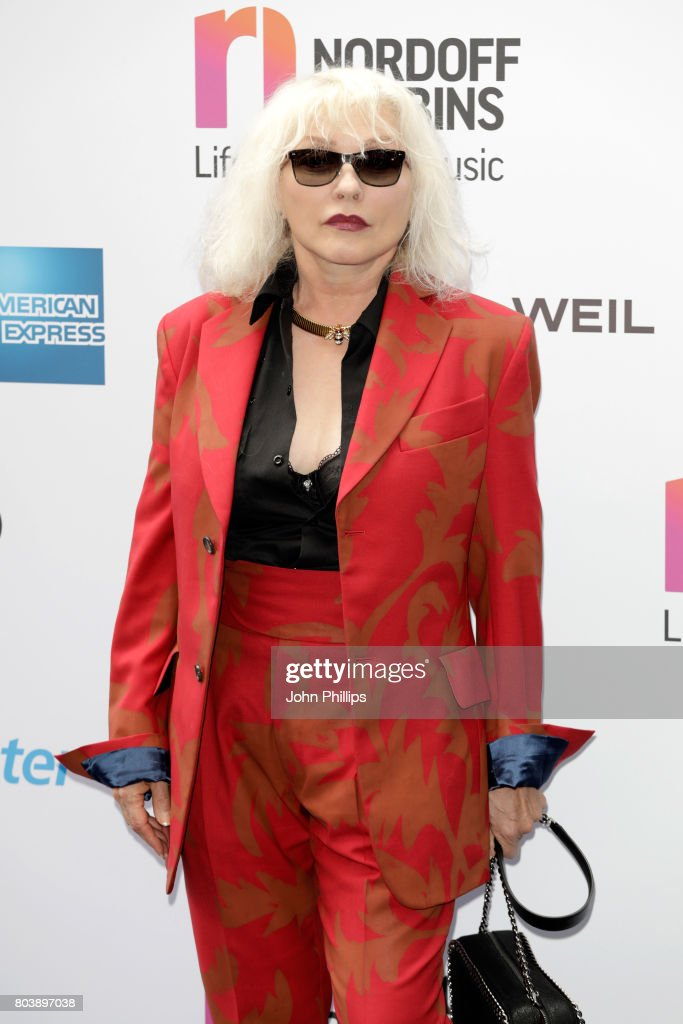 Singer Debbie Harry of Blondie attends Nordoff Robbins O2 Silver Clef awards at The Grosvenor House Hotel on June 30, 2017 in London, England.
