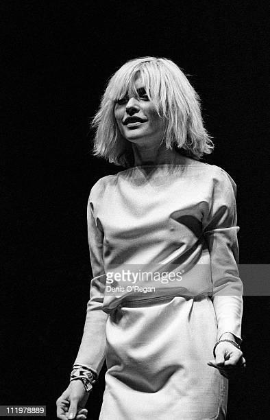 Singer Debbie Harry of Blondie performs at Hammersmith Odeon in London, 1980.