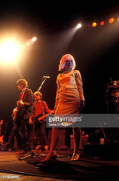 Singer Debbie Harry of Blondie performs at Hammersmith Odeon in London 1980