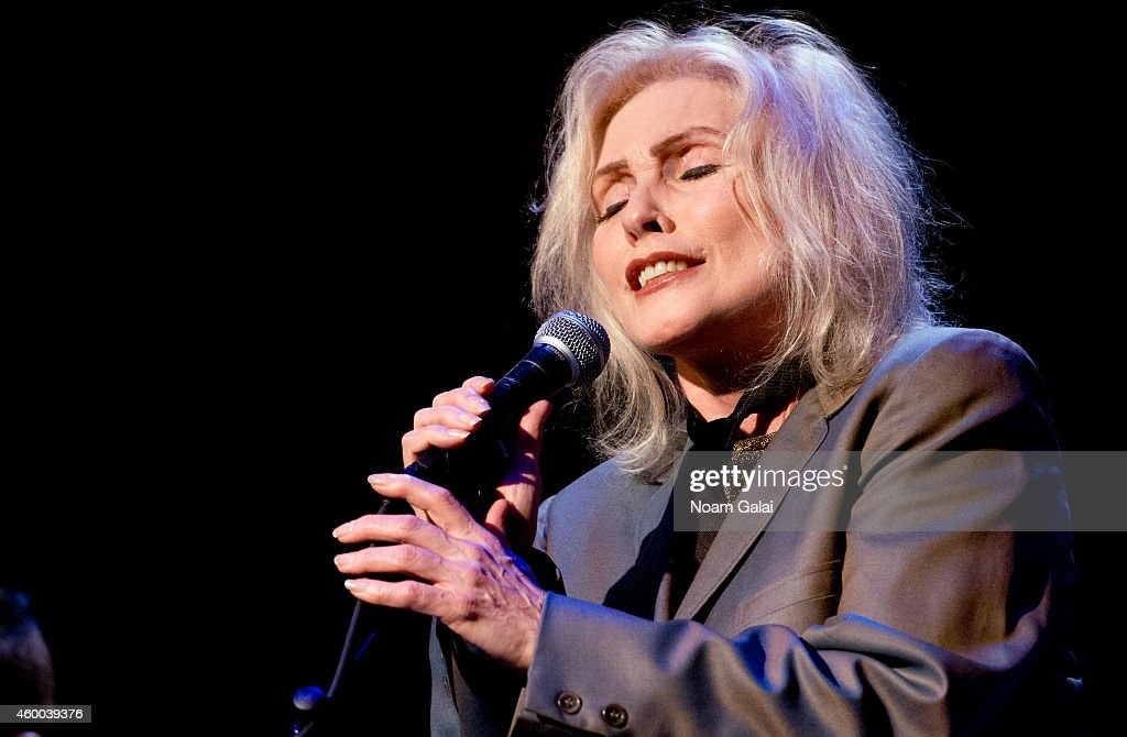 Singer Debbie Harry of Blondie performs during the 34th Annual John Lennon Tribute Benefit Concert at Symphony Space on December 5, 2014 in New York City.