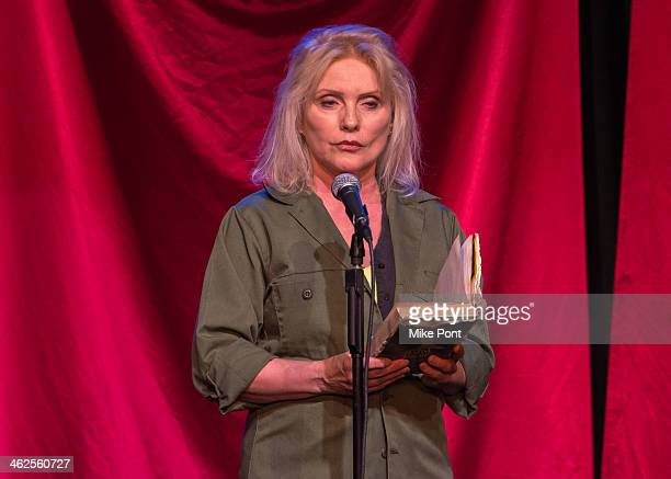 Singer Debbie Harry performs in the 2014 Celebrity Autobiography show at Stage 72 on January 13 2014 in New York City