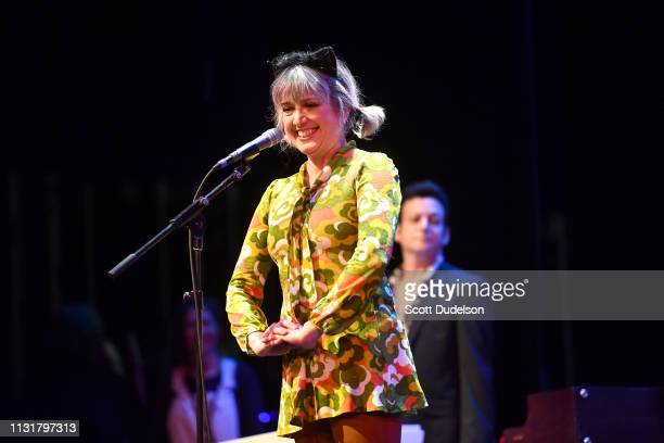 Singer Debbie Shair performs onstage during the Autism Think Tank benefit at The Alex Theatre on February 23 2019 in Glendale California