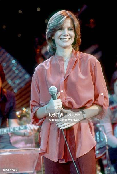 Singer Debby Boone rehearses her televised concert at KHJ Studios on December 17 1977 in Los Angeles California