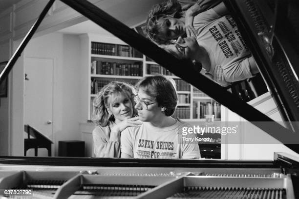 Singer Debby Boone with Her Husband Gabriel Ferrer at Home