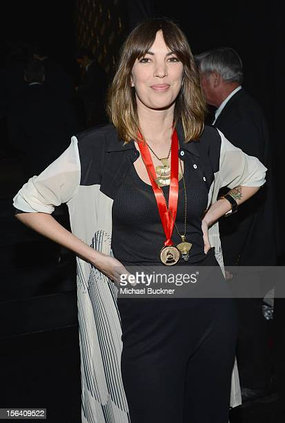 Singer Deborah de Corral poses during the 2012 Person of the Year honoring Caetano Veloso at the MGM Grand Garden Arena on November 14 2012 in Las...