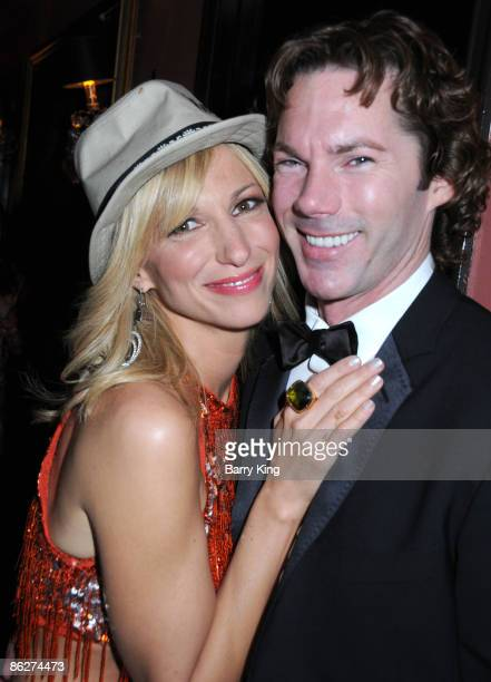 Singer Deborah Gibson and Dr Rutledge Taylor attend An Evening of Electric Youth to Benefit Gibson Girl held at Cafe La Boheme on April 28 2009 in...