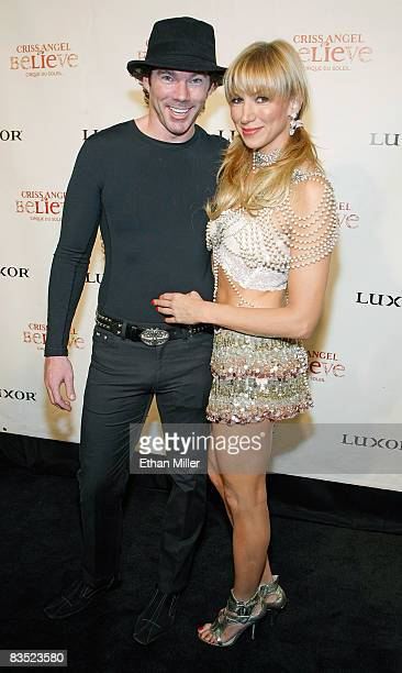 """Singer Deborah Gibson and her boyfriend Rutledge Taylor arrive at the gala premiere of """"Criss Angel Believe"""" by Cirque du Soleil at the Luxor Resort..."""