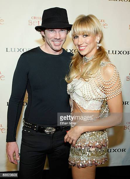 Singer Deborah Gibson and her boyfriend Rutledge Taylor arrive at the gala premiere of Criss Angel Believe by Cirque du Soleil at the Luxor Resort...