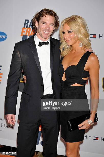 Singer Deborah Gibson and Rutledge Taylor arrive at the 17th Annual Race to Erase MS event cochaired by Nancy Davis and Tommy Hilfiger at the Hyatt...