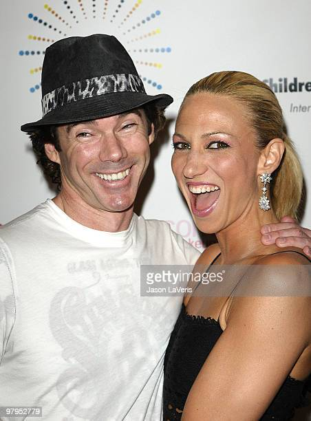 """Singer Deborah Gibson and Rutledge Taylor attend the """"SING!"""" concert benefitting Camp Ronald McDonald at the Orpheum Theatre on March 20, 2010 in Los..."""