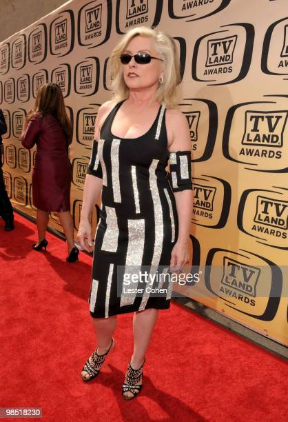 Singer Deborah Harry of Blondie arrives at the 8th Annual TV Land Awards at Sony Studios on April 17 2010 in Los Angeles California