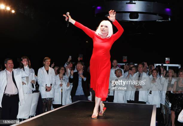 Singer Deborah Harry of Blondie performs onstage at the 2011 MOCA Gala An Artist's Life Manifesto Directed by Marina Abramovic at MOCA Grand Avenue...