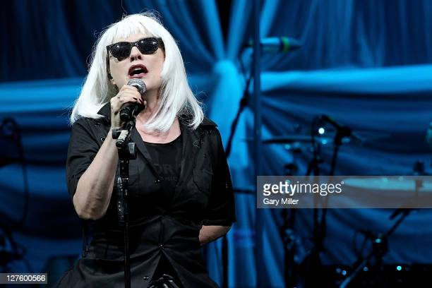 Singer Deborah Harry performs in concert with Blondie at ACLLive on September 29 2011 in Austin United States Photo by Gary Miller/FilmMagic