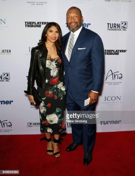 Singer Deleon Richards and her husband former MLB player Gary Sheffield attend the 2018 Derek Jeter Celebrity Invitational gala at the Aria Resort...