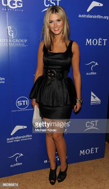 Singer Delta Goodrem arrives at the 2010 Australians In Film Breakthrough Awards at Thompson Hotel on May 13 2010 in Beverly Hills California