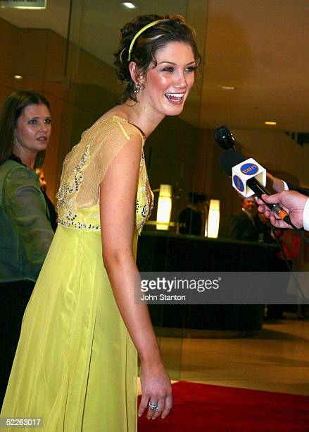 Singer Delta Goodrem attends the Australian Red Cross 90th Anniversary Gala at the Westin Hotel on March 2 2005 in Sydney Australia