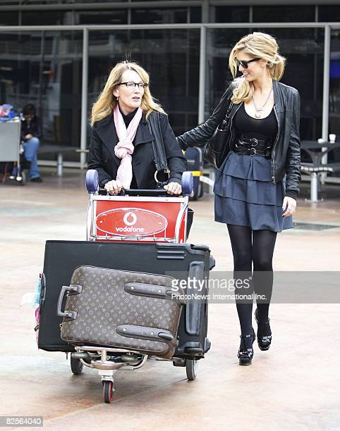 APPLY Singer Delta Goodrem with her mother Leah pictured at Sydney International Airport on 20th May 2008 in Sydney Australia Delta had returned from...