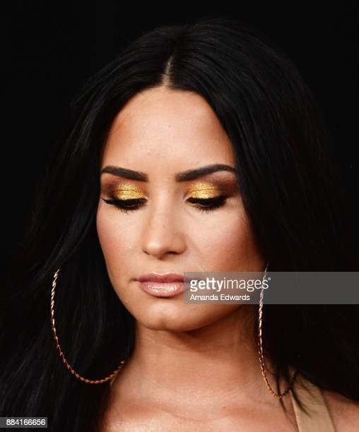 Singer Demi Lovato arrives at 1027 KIIS FM's Jingle Ball 2017 at The Forum on December 1 2017 in Inglewood California