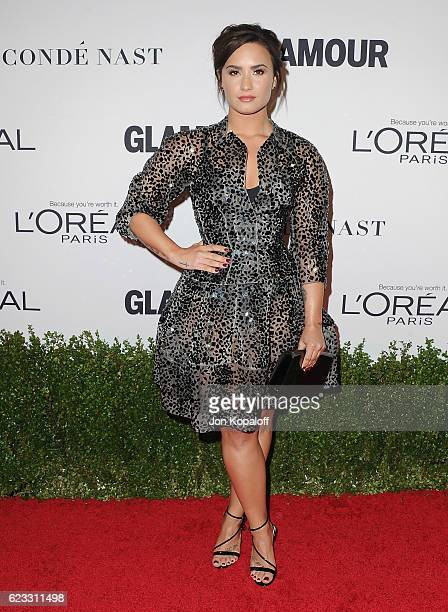 Singer Demi Lovato arrives at Glamour Women Of The Year 2016 at NeueHouse Hollywood on November 14 2016 in Los Angeles California