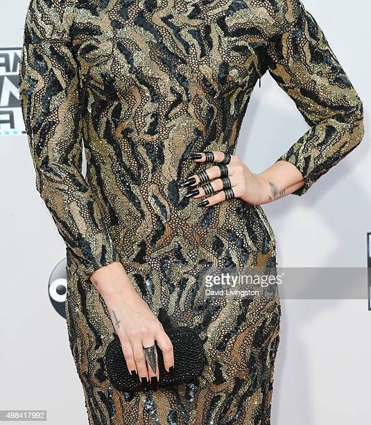 Singer Demi Lovato arrives at the 2015 American Music Awards at Microsoft Theater on November 22 2015 in Los Angeles California