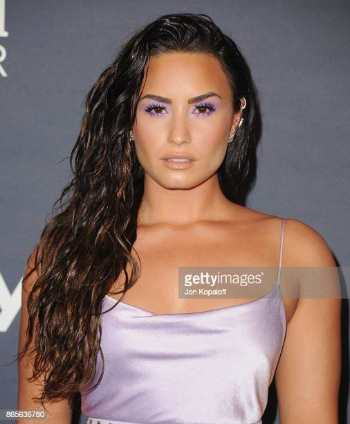 Singer Demi Lovato arrives at the 3rd Annual InStyle Awards at The Getty Center on October 23 2017 in Los Angeles California