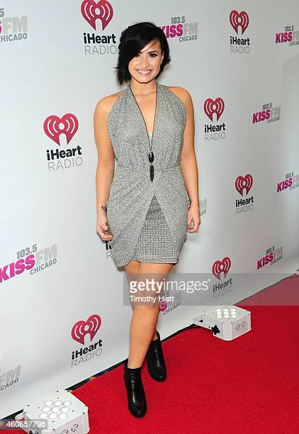 Singer Demi Lovato attends 1035 KISS FM's Jingle Ball 2014 at Allstate Arena on December 18 2014 in Chicago Illinois