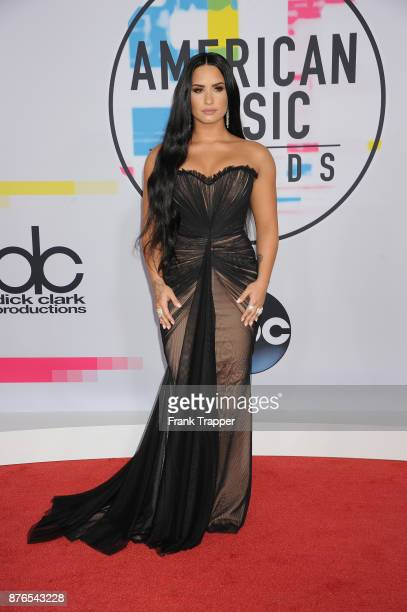 Singer Demi Lovato attends 2017 American Music Awards at Microsoft Theater on November 19 2017 in Los Angeles California