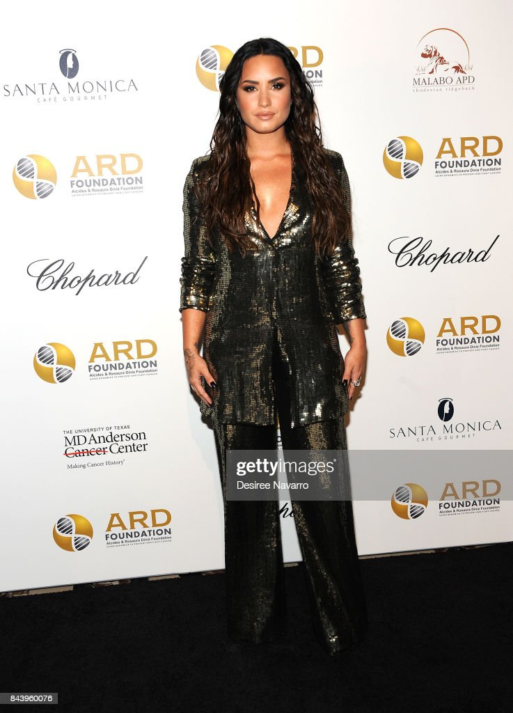 Singer Demi Lovato attends 2017 ARD Foundation 'A Brazilian Night' at Cipriani 42nd Street on September 7, 2017 in New York City.
