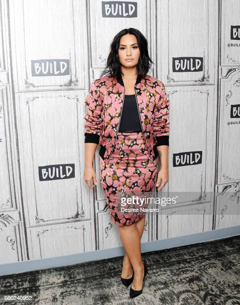 Singer Demi Lovato attends Build Series to discuss 'Smurfs The Lost Village' at Build Studio on March 20 2017 in New York City